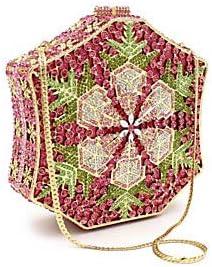 FANFEI Women Crystals/Hollow-out Alloy Evening Bag Rhinestone Crystal Evening Bags Scenenery Fuchsia/Light Purple/Blue/Fall Winter, Fuchsia Fuchsia