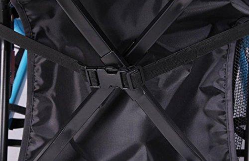 JPOQW UPF 50+ Adjustable Baby Stroller Sun Shade Sun Visor (Black) by JPOQW (Image #6)