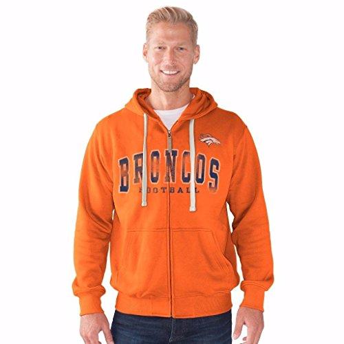 NFL Men's G-III Motion Full Zip Hooded Sweatshirt (Large, Denver -