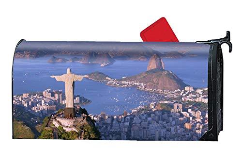 XPNiao Magnetic Garden Yard Mailbox Cover Rio De Janeiro Brazil Tourism Travel by XPNiao