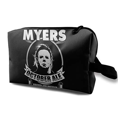 Mike Myers Halloween Ale Makeup Bag Travel Multifunction Clutch Pouch Bags Great Holder For Girls