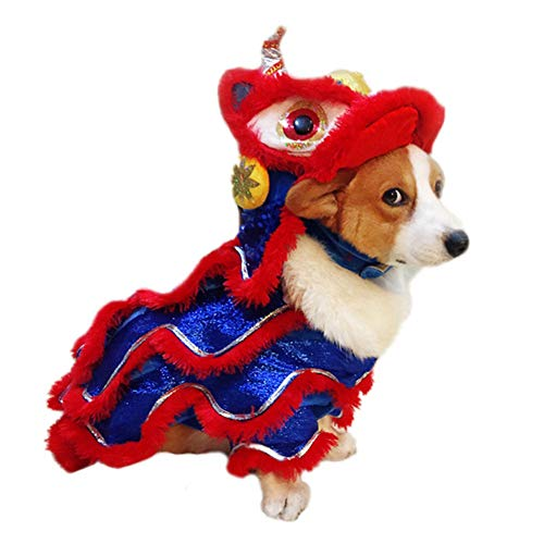 Hankyky Chinese Style New Year Pet Makeover Funny Clothes Cute Dance Lion Dragon Pet Costume Cat Dog Clothes Hoodies Coat from Hankyky