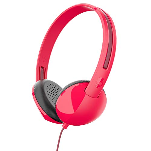 Skullcandy Stim On-Ear Headphones with Built-In Microphone and Remote, Supreme Sound Balanced Audio, Lightweight Design for Comfortable Fit, Red