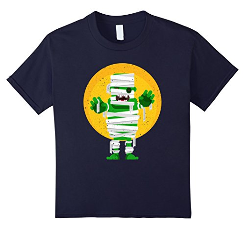 Hip Halloween Costumes Ideas (Kids Franken Mummy Cute Halloween Costume T-Shirt 12 Navy)