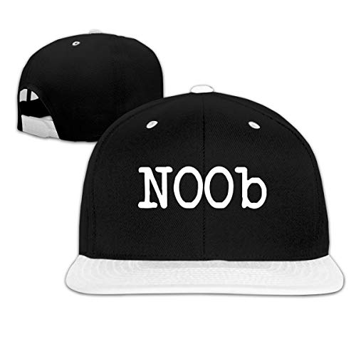 Puyiyua Rock Punk Baseball Cap NOOB Unisex Trucker Hat Hip-hop Snapback White
