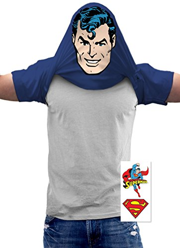 Superman Pullover Flip DC Comics T Shirt (X-Large)