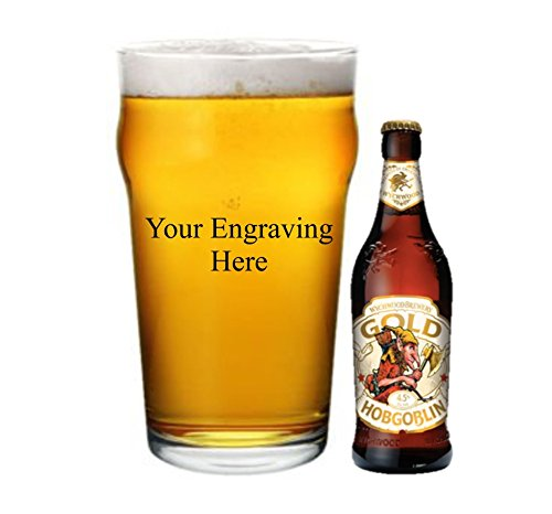 Gift Boxed Personalised Ale Hobgoblin pint Glass Official