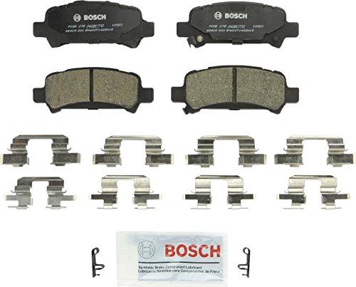 (Bosch BC770 QuietCast Premium Ceramic Disc Brake Pad Set For Subaru: 2003-2006 Baja, 1998-2003 Forester, 1999-2003 Impreza, 2000-2009 Legacy, 2000-2004 Outback; Rear)