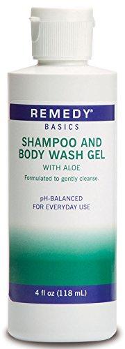 (Medline MSC092SBW04 Remedy Basics Shampoo and Body Wash Gel, 4oz. (Case of 60))