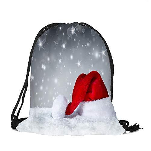 ✈ HYIRI Big Merry Christmas Classic Candy Drawstring Storage Bag ()