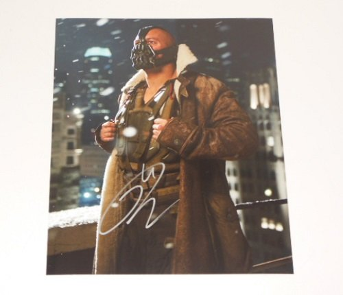 The Dark Knight Rises 'Bane' Tom Hardy Authentic Signed Autographed 8x10 Glossy Photo Loa