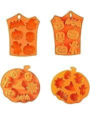 Ancuioyz 2 halloween silikonformar fladdermus, pumpa-silikonform halloween gör-det-själv silikonform används i kakor, muffins, gelé halloween högkvalitativ silikonkakform