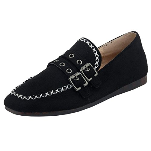 RAZAMAZA Pumps Casual Shoes Flats Women Black UxHgwq8x