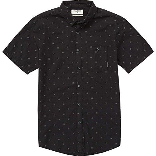 (Billabong Men's All Day Jacquard Short Woven Shirt, Black, XL)
