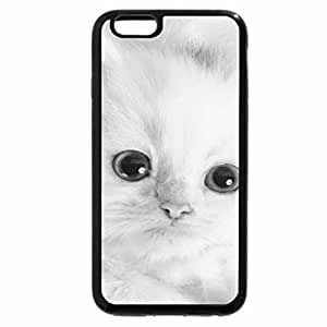 iPhone 6S Case, iPhone 6 Case (Black & White) - Beautiful kitten