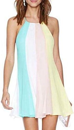 Womens Bunte Pastell farbige Swing-Kleid: Amazon.de: Bekleidung