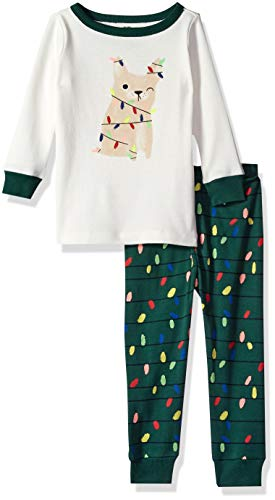 Gymboree Baby Boys 2-Piece Tight Fit Long Sleeve Long Bottoms Pajama Set, Dog Holiday Light, 18-24 Mo from Gymboree
