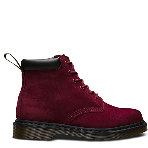 Picture of Dr. Martens Saxon 939 6-Eye Padded Collar Boot,Wine Soft Buck,UK 10 M