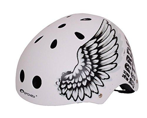 Spokey Fahrradhelm, BMX- und Skaterhelm Gr. 52-59 cm, Farbe:Angel;Größe:57-59 cm