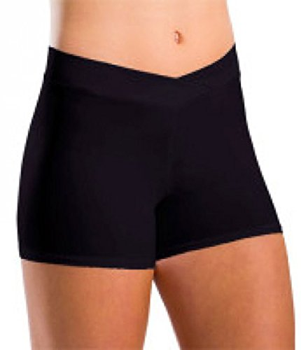 Motionwear V-Waist Shorts, Black Dri-Line, Adult Medium - - Motionwear Shorts