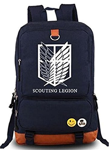 Gumstyle Anime Attack on Titan Luminous Large Capacity School Bag Cosplay Backpack Blue by Gumstyle