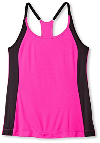 Fila Women's Loosen Up Tank Top, Pink/Black, M