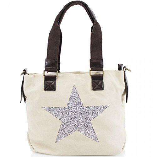 Shoulder Canvas LeahWard LeahWard Beige 512 Women's Star Women's Unisex Bag HdZYOOFW
