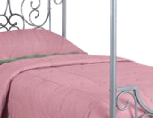 081438420417 - Powell Princess Rebecca Sparkle Silver Canopy Bed, Twin carousel main 1