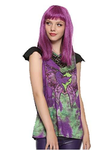 Descendants 2 Disney Mal Cosplay Girls T-Shirt Size: Large]()