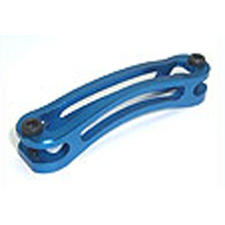 Aluminum Tail Boom Support Brace, Blue: T-Rex 500