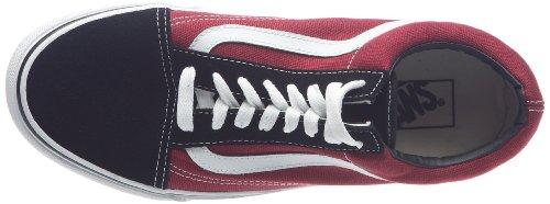 Vans Old Skool negro/bicicleta rojo zapatos kw6lj8