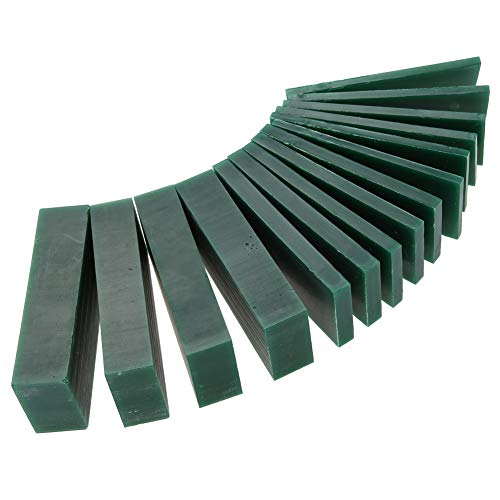 15 PCS 4/6/8/21/23mm Thickness Green Carving Wax Piece, Jewelry Engraving Making Tool Mold Wax Ring Solid Carving Wax for Jewelry Ring Tool - Making Wax Jewelry