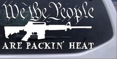 2 PACKIN/' HEAT GUN DECALs Sticker For Car Window Bumper Truck Laptop RV