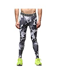 1Bests Men and Youth Boy Sports Fitness Compression Running Pants Quick-drying Breathable Tight Long Leggings