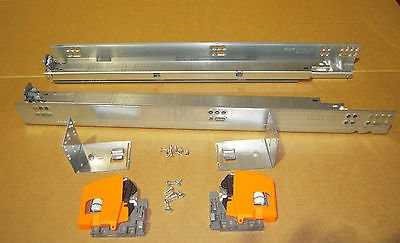 Blum B569.6100B 24 In. Heavy Duty Tandem Plus Blumotion Drawer Slides + Locking Devices 563/569 Series L/R + Mount Brackets Pair