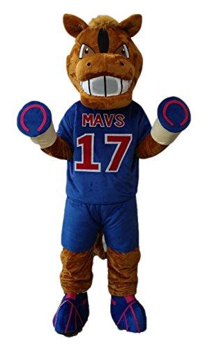 ARISMASCOTS Adult Size Horse Mascot Costume for Team Sports Mascots Deguisement Mascotte ()