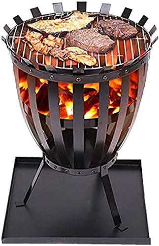 Sunlike fuego Basket, acero Brasero de jardín al aire libre Calentador de Patio fuego leña for quemar madera quemador cesta barbacoa bandeja de ceniza Grill, Fogón al aire libre: Amazon.es: Hogar