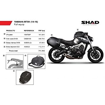 SHAD - KIT-SHAD-13/214 : Maletas laterales, soportes, bolsas