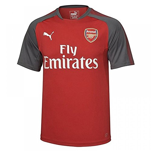 PUMA Men's Arsenal Fc Training Jersey with Sponsor, Chili Pepper/Dark Shadow, Small - Arsenal Training Jersey