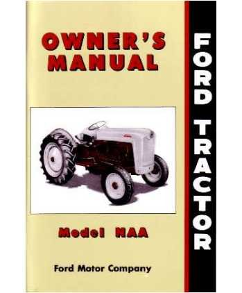 amazon com 1953 1954 1955 ford tractor naa owners manual guide rh amazon com Chilton Repair Manuals Ford ford jubilee parts manual