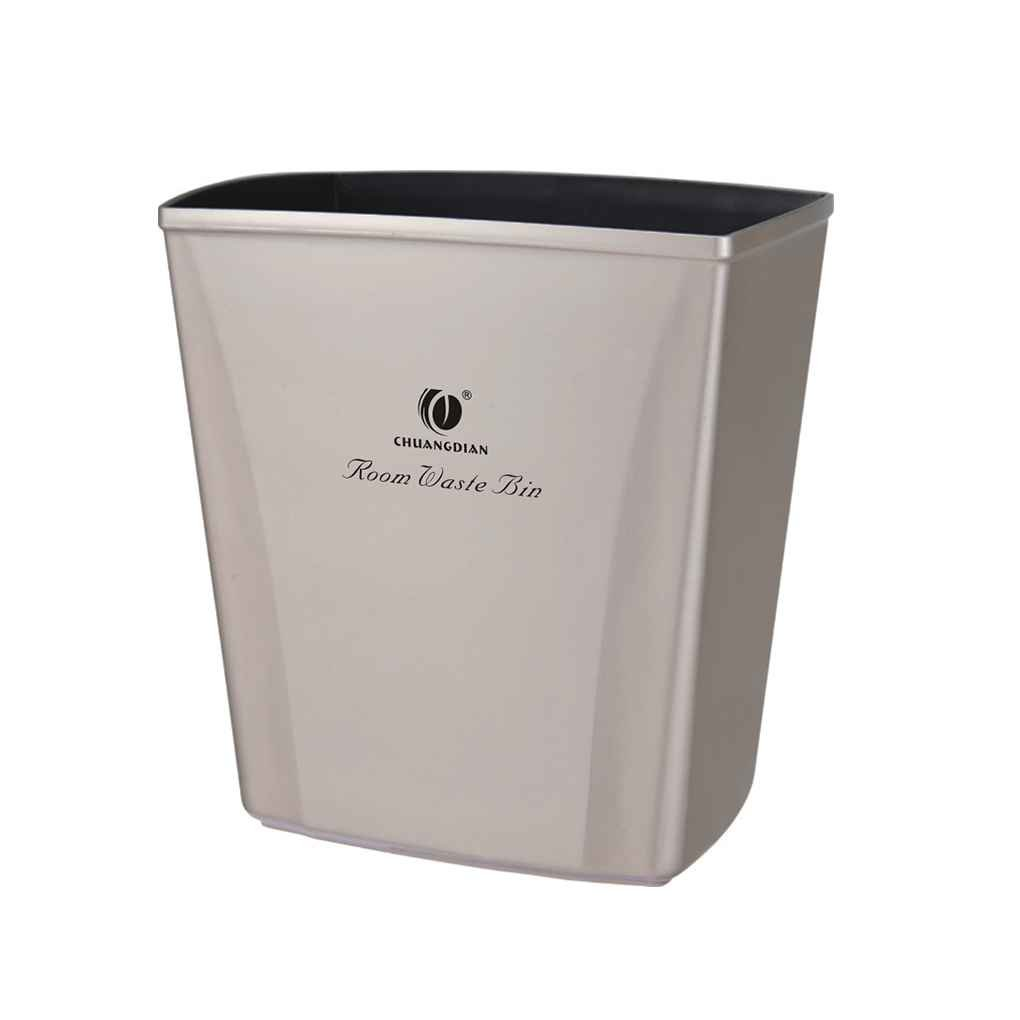 Square Trash Bin Household Wastebasket Plastic Litter Container Hotel Home Garbage Boxes Omkuwl