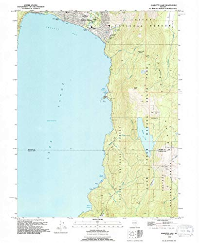 YellowMaps Marlette Lake NV topo map, 1:24000 Scale, 7.5 X 7.5 Minute, Historical, 1992, Updated 1994, 26.9 x 22 in - Paper
