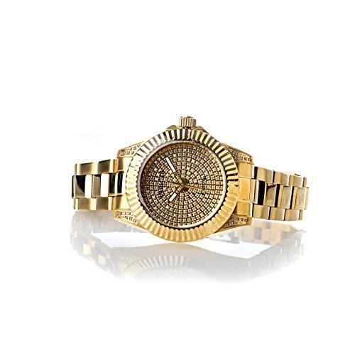 Invicta Women's Pro Diver Quartz 1.22ctw Diamond Pave Dial Stainless Steel Gold Tone Bracelet Watch 17712
