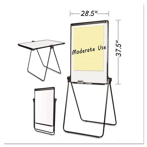 Folds-to-a-Table Melamine Easel, 28 1/2 x 37 1/2, White, Steel/Laminate by MasterVision