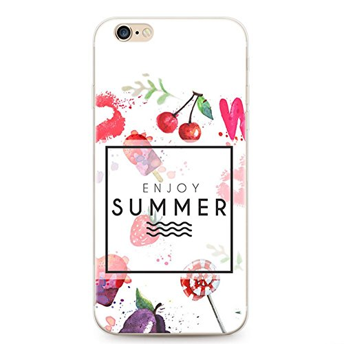 [Case for iPhone 6 6s Case, Xeber Dessert Fruit Series TPU Silicone Cover Clear Protective Shell Cases for Apple iPhone 6 6s 4.7