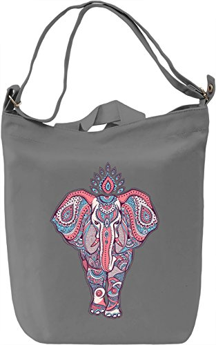 Ornament elephant Borsa Giornaliera Canvas Canvas Day Bag| 100% Premium Cotton Canvas| DTG Printing|