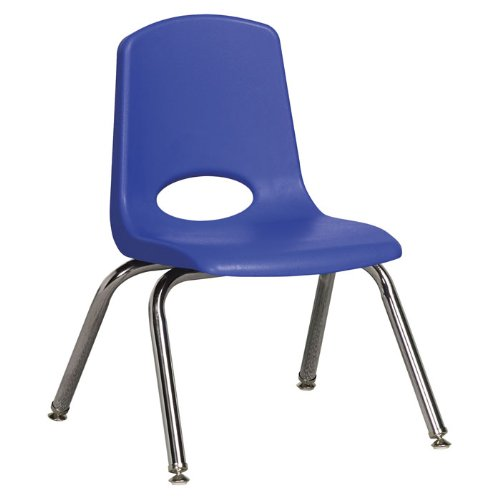 Plastic Classroom Chair [Set of 6] Seat Color: Blue, Seat Height: 12'', Foot Type: Swivel Glide by ECR4Kids