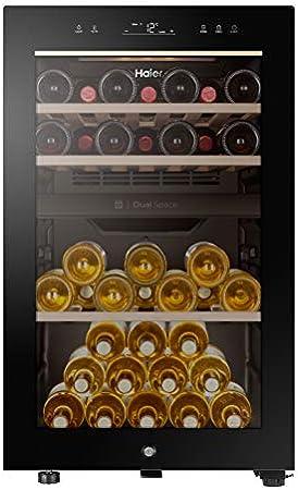 Haier, Botellero de vino HWS42GDAU1 42 botellas, libre instalación, doble zona[Clase de eficiencia energética G]