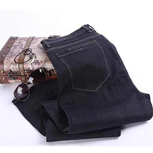 Giovane Spessore Sottili Vintage Denim Comodi Da Dritti Uomo Pantaloni Anaisy Casual Blaublack E Jeans nqZF6vx