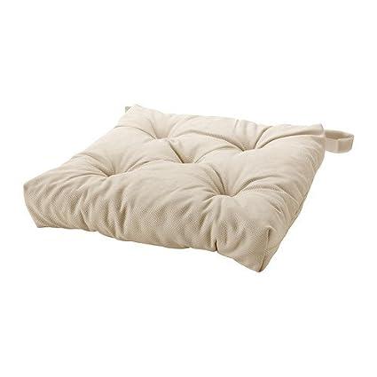 Ikea Malinda - Cuscino per sedia, beige chiaro - 40/35 x 38 x 7 cm ...